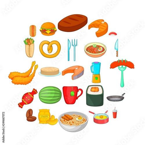 Fotografie, Obraz  Rare food icons set