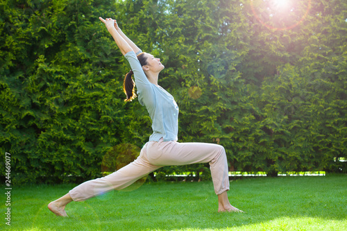 Fotografie, Obraz  adult woman doing yoga