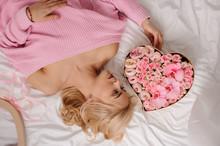 Girl In The Pink Shirt Lying O...