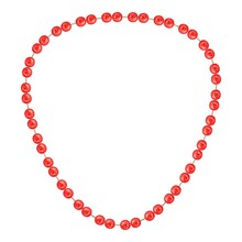 Red Necklace Icon. Cartoon Of ...