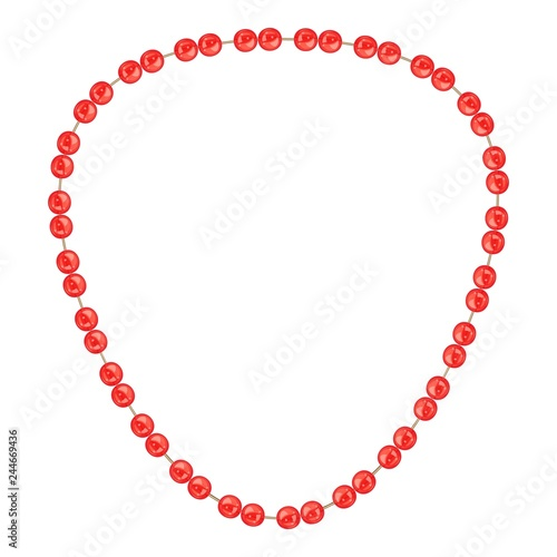 Red necklace icon Fototapeta