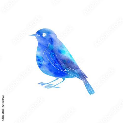 Cuadros en Lienzo watercolor silhouette of bird