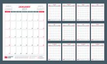 Calendar Planner For 2019 Year...