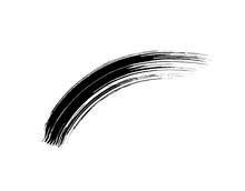 Mascara Eyelashes Brush Stroke Makeup Isolated On White Background. Vector Black Hand Drawn Lash Scribble Texture Swatch For Fashion Cosmetic Makeup Design.