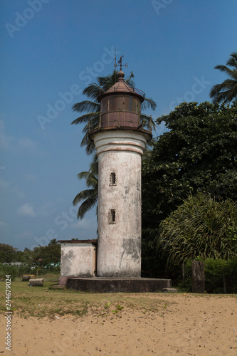 Foto  Kribi, Sud / Cameroon - February 13 2017: The lighthouse build during the German colony in Cameroon in the coastal town of Kribi