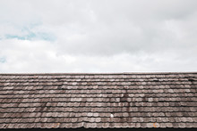 Wood Roofing Detail With Sky For Exterior Building Decor