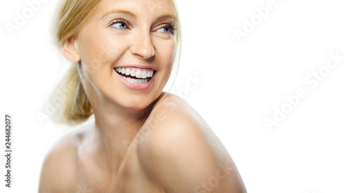 Fotografie, Obraz  Beautiful naturally Woman with clean fresh skin