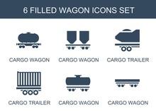 6 Wagon Icons
