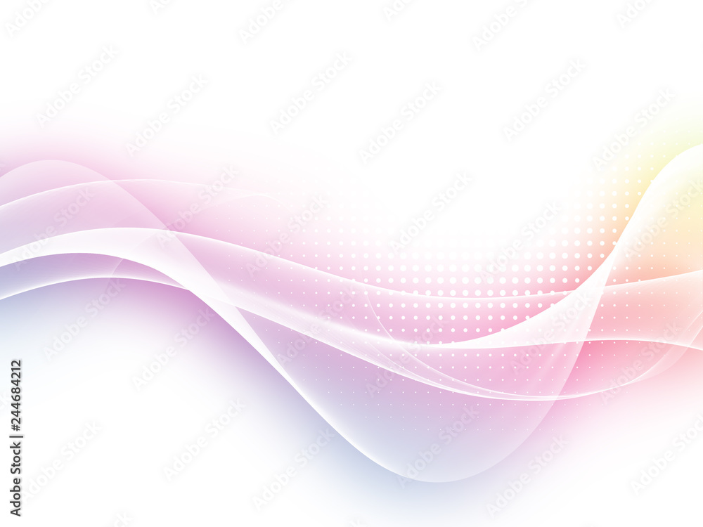 Abstract soft colorful wave background