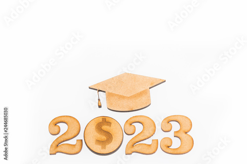 Fotografia  Education savings 2023 - Savings concept. Top view