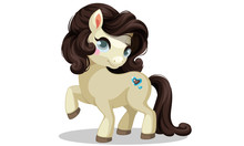 Beautiful Little Pony With Dark Brown Hairstyle