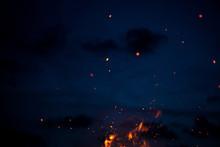 Large Burning Bonfire With Sof...