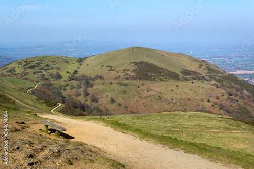A view from Worcestershire Beacon showing the network of footpaths that criss-cr Canvas Print