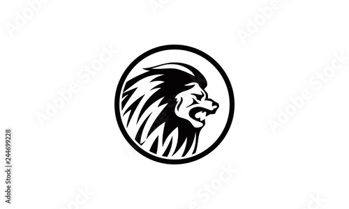 Fototapety, obrazy: logo head lion king
