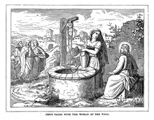 Jesus Talks With The Woman At The Well