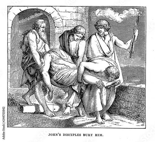 Tablou Canvas Johns disciples bury him