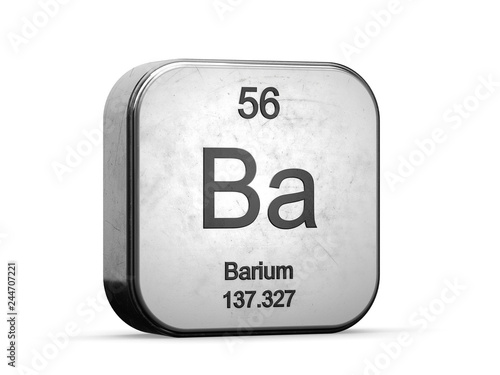 Barium element from the periodic table series Wallpaper Mural