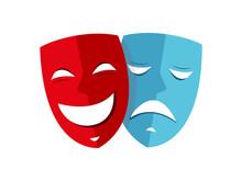 Happy And Sad Mask Theater Ico...