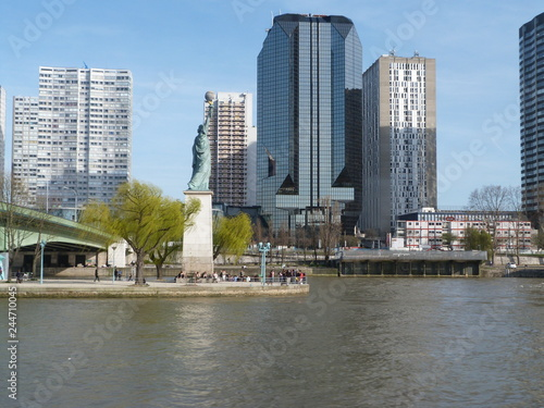 Photo Stands Sydney View of a European city from a boat sailing on a river
