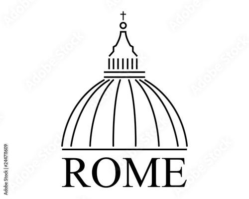 Basilica di San Pietro Città del Vaticano Roma , Italia - logo vettoriale Poster Mural XXL