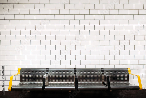 Fotomural London underground tube train station