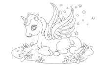 Cute Baby Unicorn Fantasy Draw...