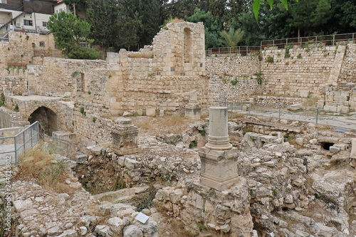 Pool of Bethesda ancient ruins - Buy this stock photo and