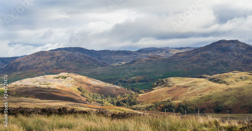 Picturesque autumnal view of the Great Glen or Glen More Canvas Print