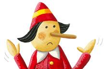 Illustration Of Pinocchio Says: I Do Not Lie