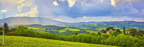 Fotografía Beautiful Tuscany panorama, in the Chianti area.