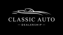 Classic Vintage Style Sports Car Auto Dealership Logo Icon. Retro Style Luxury Garage Vehicle Silhouette. Vector Illustration.