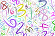 Illustrations of numbers. Backdrop, decoration, wallpaper & web.