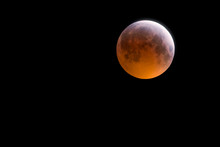 Lunar Eclipse At Totality Over Wales UK - Aka 'Blood Moon