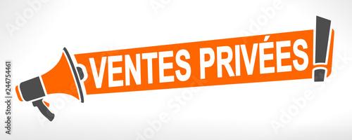 Photo ventes privées sur mégaphone orange