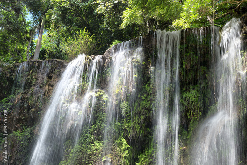Foto auf Gartenposter Forest river Waterfall in El Nicho, an area belonging to the national park Topes de Collantes, Cuba