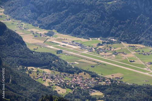 Fotobehang Olijf aerial view of green fields