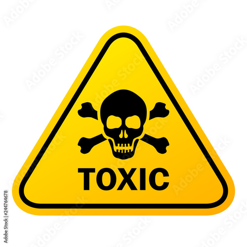 Photo Toxic vector sign