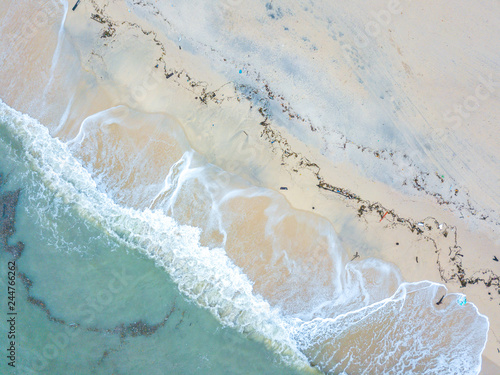 Beach with aerial view.