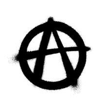 Sprayed Anarchy Symbol With Ov...