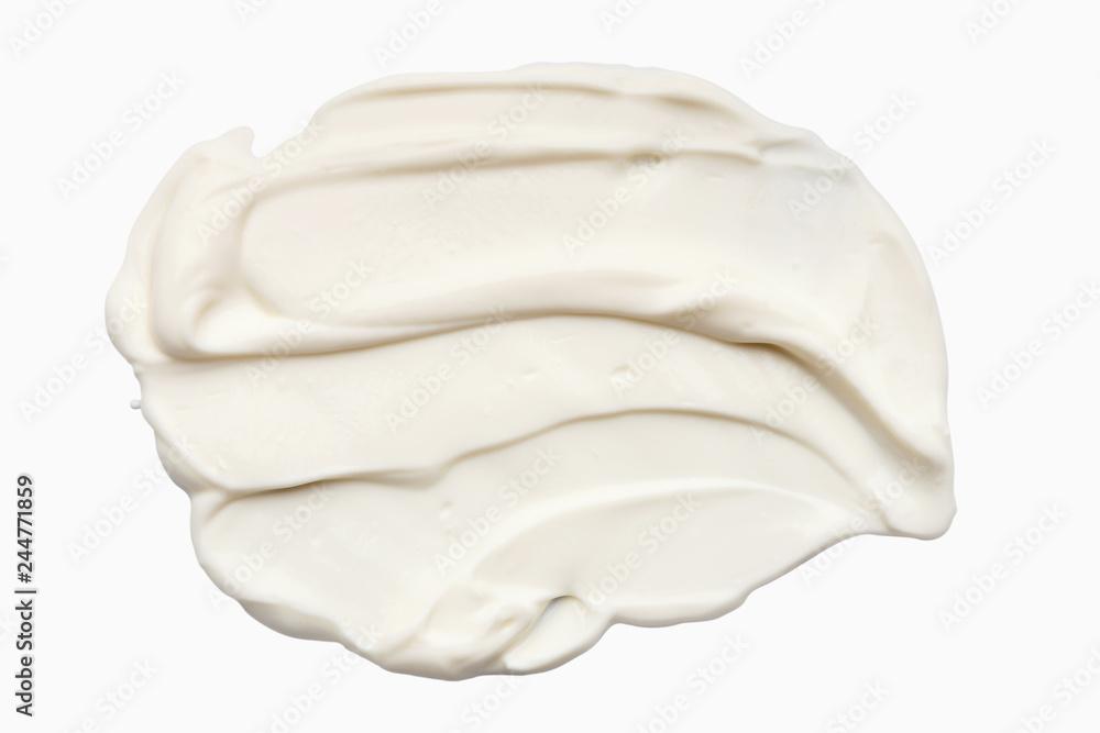 Fotografie, Obraz  Sour cream texture, top view