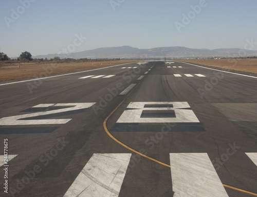 Airstrip in mexican earth Wallpaper Mural