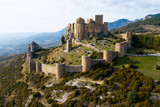 Top view of the castle Castillo de Loarre. Huesca Province. Aragon. Spain