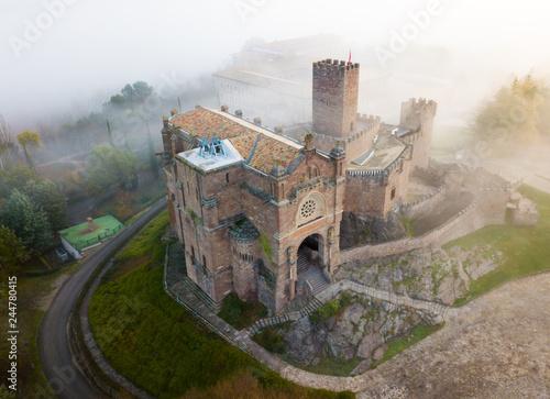 Fotobehang Historisch geb. Top view of the castle Castillo de Javier. Huesca Province. Aragon. Spain