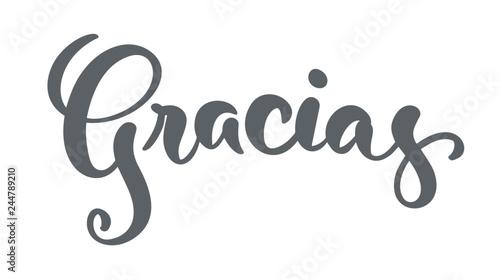 Photo Gracias hand written lettering