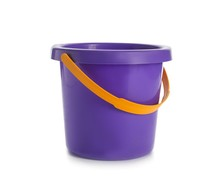 Toy Bucket For Sand On White B...