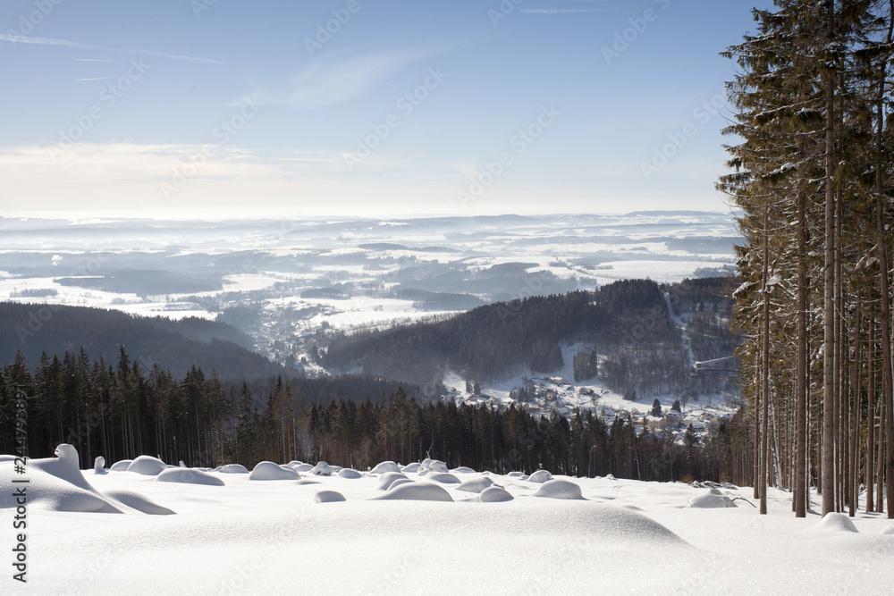Fototapeta zimowy pejzaż górski
