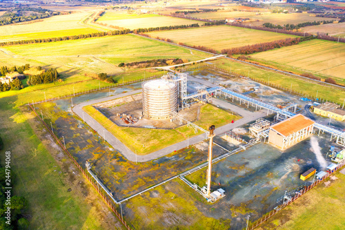 Poster Jaune Industry site, drone view