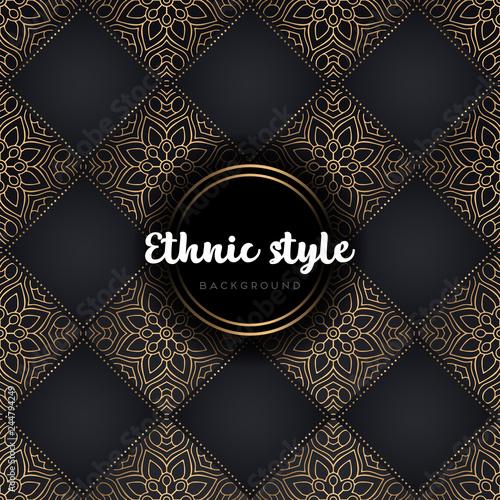 luxury seamless pattern mandala Canvas Print