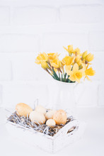 Jar With Narcissuses And Eggs ...