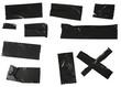 canvas print picture - Klebeband schwarz isoliert panzertape ducttape